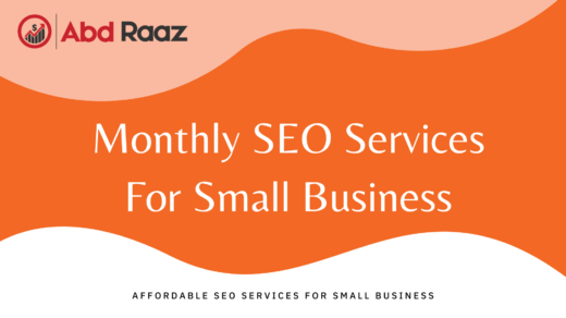 Monthly SEO services for small business
