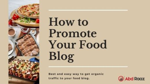 How to Promote Your Food Blog