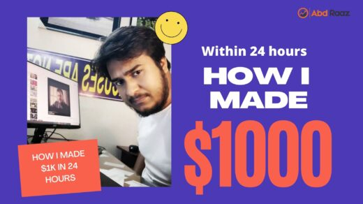 How I Made $1000 within 24 Hours